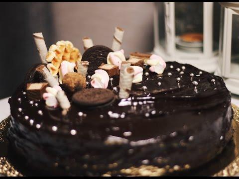 Как украсить торт прага в домашних условиях фото