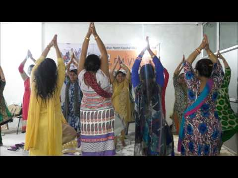 Evergreen Education Trust Jammu celebrating International Yoga Day 2017.