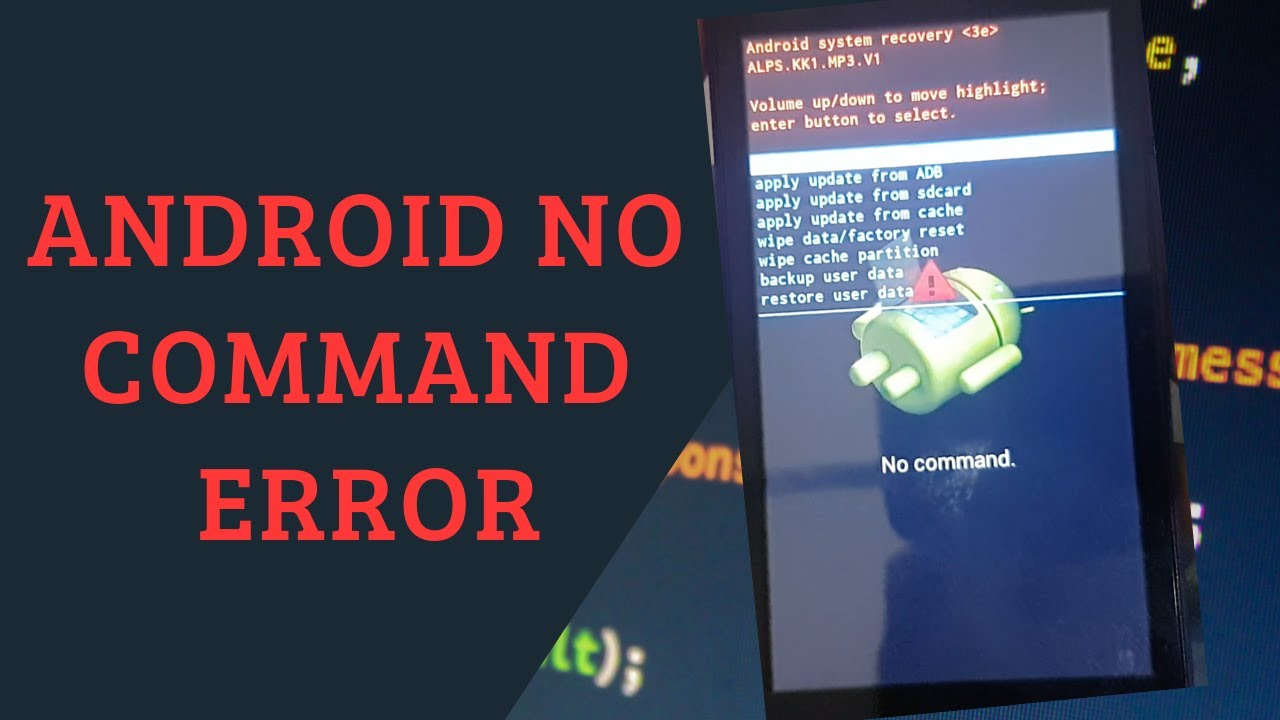 No command Error in Android Mobile