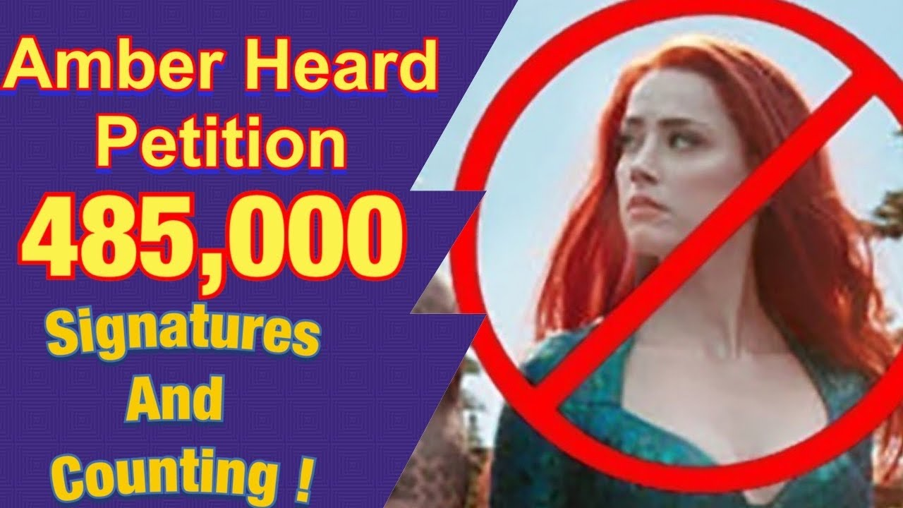 A PETITION To Remove Amber Heard From Aquaman 2 Has Over ...