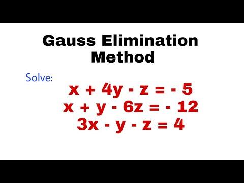 13. Gauss Elimination Method | Problem#1 | Complete Concept