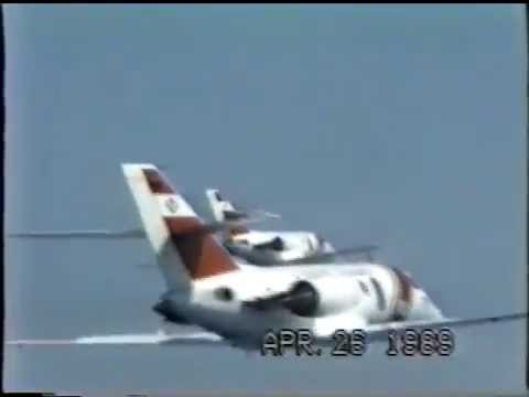 USCG AirSta Miami HU-25 Falcon Flight of Ten