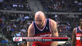 Marcin Gortat full highlights - Washington Wizards @ Detroit Pistons