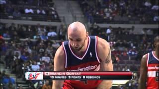Marcin Gortat full highlights - Washington Wizards @ Detroit Pistons