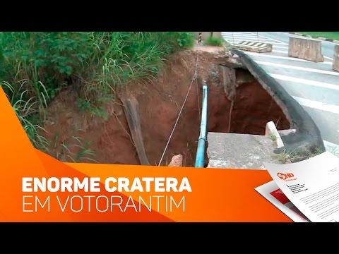 Enorme Cratera em Votorantim - TV SOROCABA/SBT