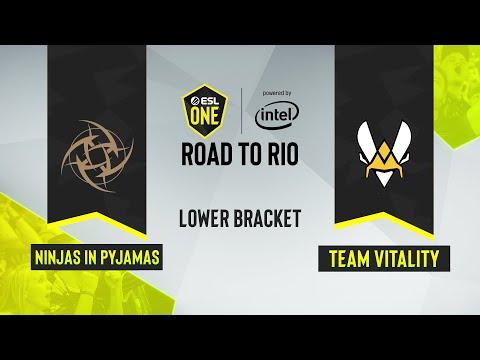 CS:GO - Ninjas In Pyjamas Vs. Team Vitality [Mirage] Map 1 - ESL One: Road To Rio - Lower Bracket -
