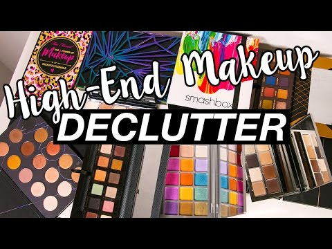 DECLUTTERING HIGH-END MAKEUP PALETTES!! GETTING RUTHLESS!!