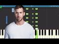 Calvin Harris Ft Future Khalid Rollin Piano Tutorial mp3