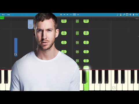 Calvin Harris ft. Future & Khalid - Rollin - Piano Tutorial