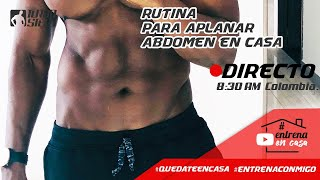 RUTINA PARA APLANAR ABDOMEN + CARDIO TABATA