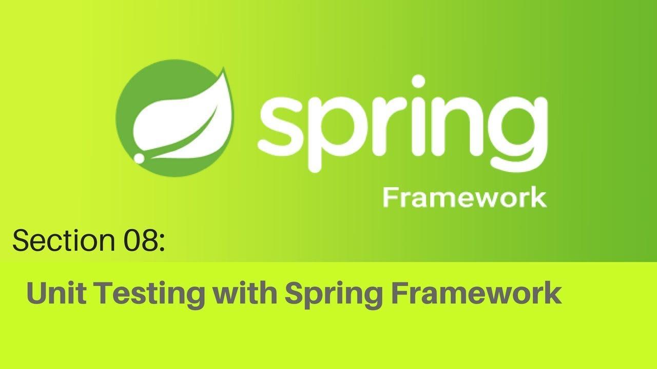 Spring framework Tutorial (064 Spring Unit Testing with an XML Context)