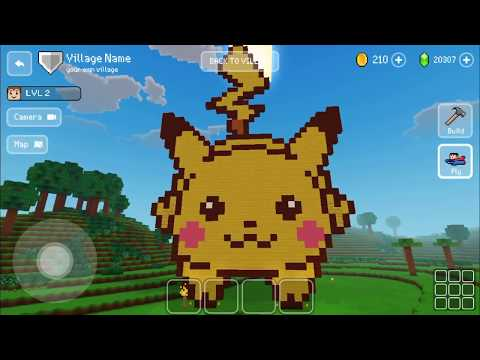 block-craft-3d-:-building-simulator-games-for-free-gameplay-#586-(ios-&-android)-|-pikachu