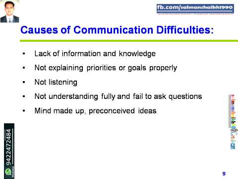 9 Causes Of Communication Difficulties