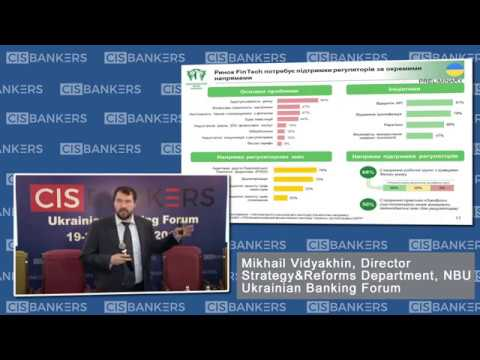 Development of FinTech in Ukraine according to NBU by Mikhail Vidyakhin, National Bank of Ukraine