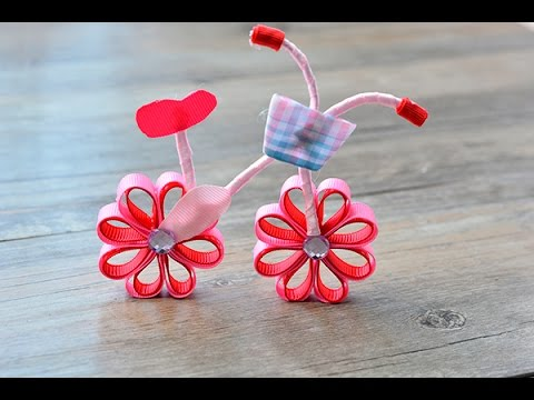 craft ideas to do with kids pandahall tutorial diy lovely pink ribbon bicycle 7618