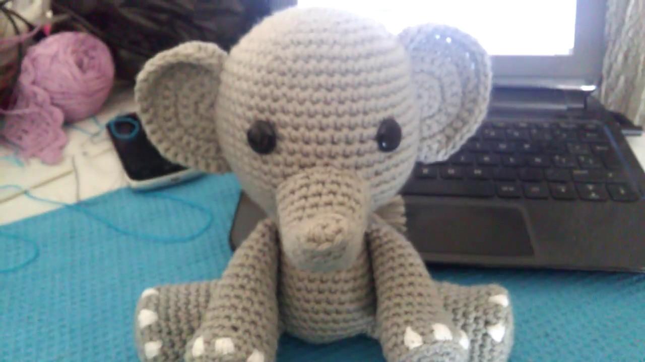 crochet elephant amigurumi - YouTube | 720x1280