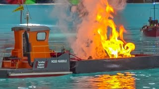 RC heavy transport & firefighter boats in action!
