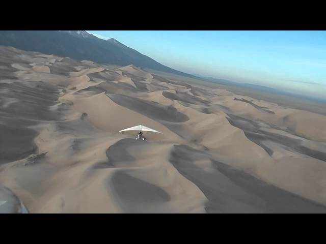 Trike flight over the Great Sand Dunes