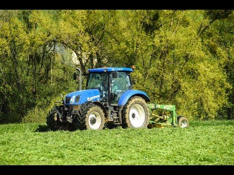 New Holland t6.165 | Krone EasyCut 3200 cv | Fauchage de Ray-Grass 2016
