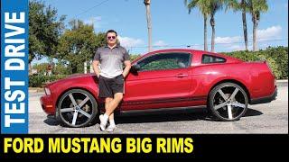 2011 Ford Mustang custom big rims wide panoramic moon roof driven by Jarek Largo Florida USA