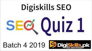 Digiskills seo quiz 1 | Seo quiz no 1 batch 4 || tech itv pk