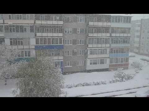 Необычная погода удивила нас с утра! 3мая 2017г. г. Саяногорск, республика Хакасия.