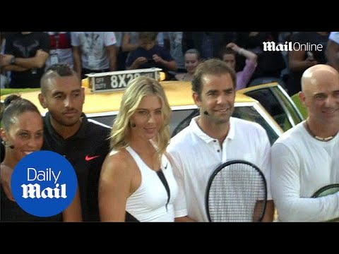 Sharapova And Federer Lead Famous Nike Street Tennis Ad Recreation - Daily Mail