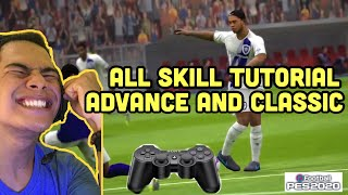 PES 2020 MOBILE ALL SKILL TUTORIAL ( CONTROL CLASSIC AND ADVANCE )