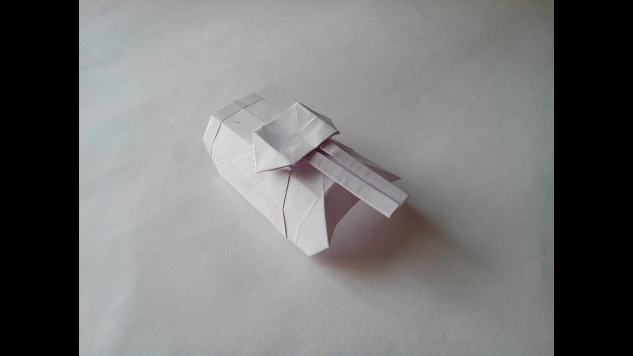 Как сделать из бумаги танк т-34 оригами