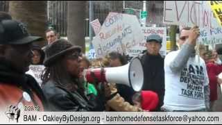 Bay Area Moratorium & Occupy Sacramento Deliver Illegal Foreclosures To CA Attorney General, Feb 29