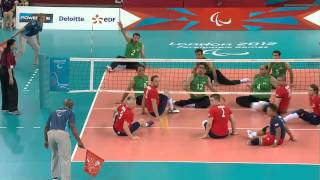 Sitting volleyball (men) - Great Britain v Iran - London 2012 Paralympic Games