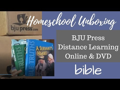 Homeschool Unboxing BJU Press Distance Learning Bible Curriculum