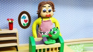 Green Baby in RELAXING HOUR - Stop Motion Cartoons For Kids