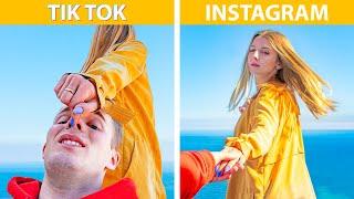 Instagram e TikTok vs la Vita Reale! 20 Hack per Fare Foto Con lo Smartphone
