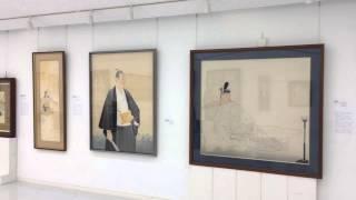 岩田正巳展の展示作業
