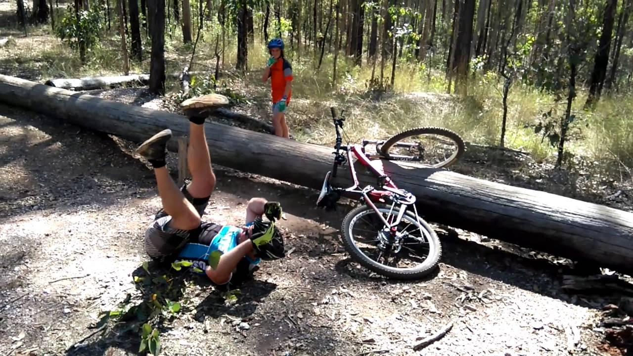 Mountain Bike Fail Log Slow Motion Youtube