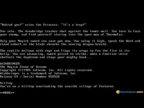 Wishbringer gameplay (PC Game, 1985)