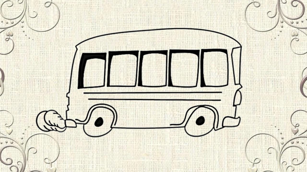 Cartoon Bus - How to draw BUS - YouTube