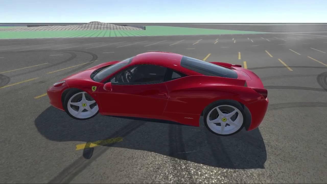 Vehicle Physics Pro for Unity 3D: Ferrari 458 playground - YouTube