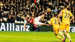 ANDY CARROLL'S INSANE OVERHEAD KICK VS PALACE *2017*