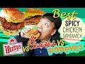 BEST SPICY CHICKEN SANDWICH! Popeyes vs. Wendy's vs. Chick-fil-A
