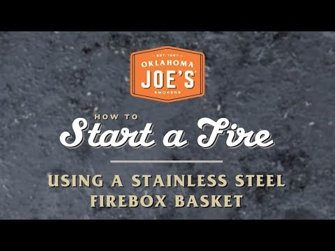 How To Start A Fire Using A Stainless Steel Firebox Basket Youtube