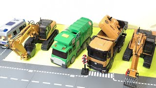 Excavator Tractor Fire Truck Garbage Trucks & Police Cars Toy Vehicles for Kids | RC Toys Playmobil