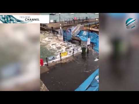 Sea flood defence wall being used successfully in Cornwall | Breaking News!