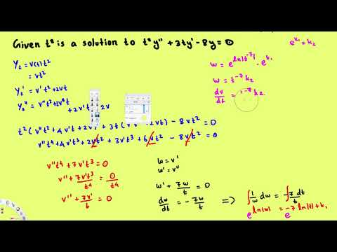 Reduction of orders, 2nd order differential equations with variable coefficients