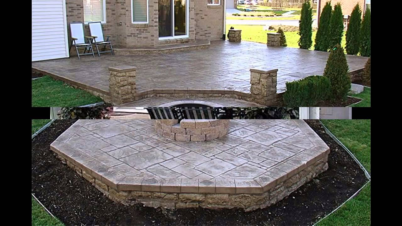 Cool concrete patio ideas youtube solutioingenieria Images