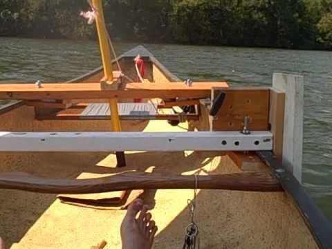 Homemade Sailing Canoe - take 3