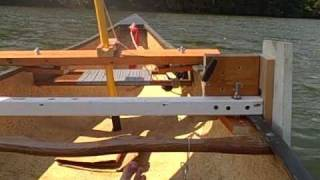 Homemade Sailing Canoe - take 3