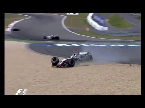 F1 2005 R7 Europe - Kimi Raikkonen Suspension Failure (Race)