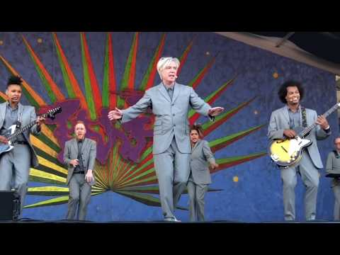"David Byrne 4/29/18 ""This Must Be The Place"" at Jazz Fest weekend 1 in New Orleans"
